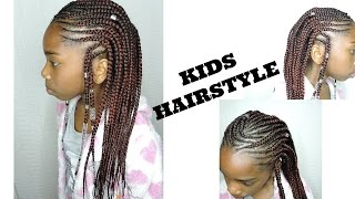 GIRLS CORNROWS  HAIRSTYLE || ALICIA KEYS INSPIRED