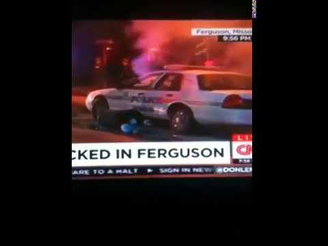 Ferguson Fires & Riots - Don gets Heckled by White Protester & Black guy Gets Mad CNN Fake News