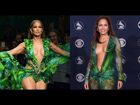 Jennifer Lopez Revive Su Icónico Vestido Verde Versace En Milán