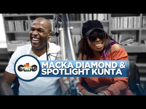 Macka Diamond talks getting caught in love triangle w/ Spotlight Kunta + threats from his fiancée