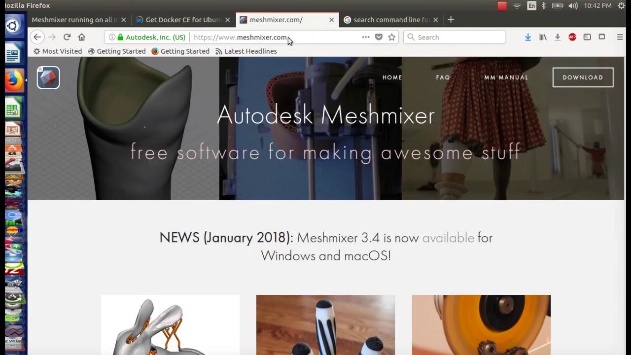 2018 install meshmixer on linux docker method proof of concept