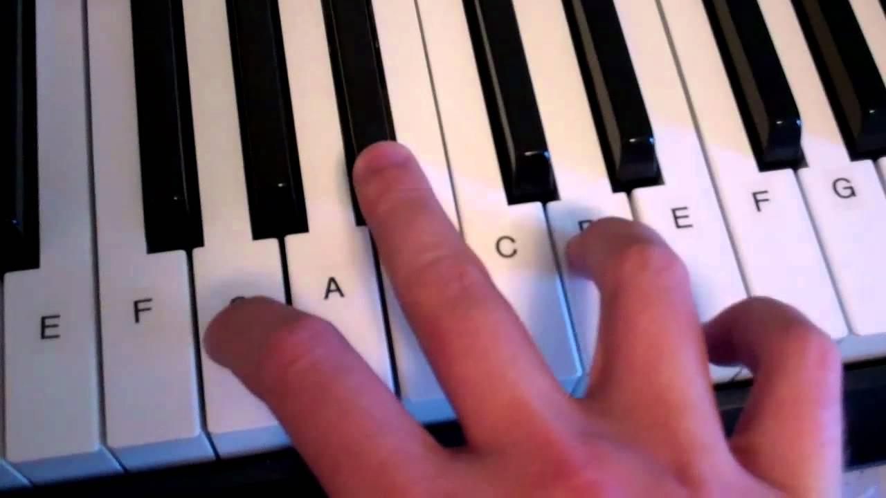G Minor Chord Piano Keyboard Demo
