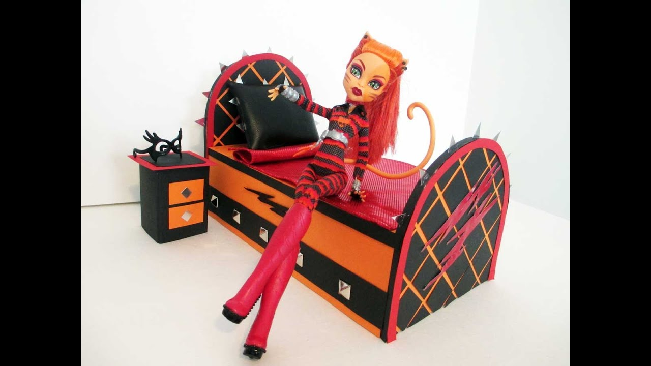 how to make a toralei stripe doll bed tutorial monster high youtube. Black Bedroom Furniture Sets. Home Design Ideas