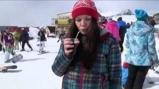 One Dombay Day. Snowboard(Прекрасные горы Домбая... Влюбилась в свой космический сноуборд!, 2015-03-12T06:51:47.000Z)