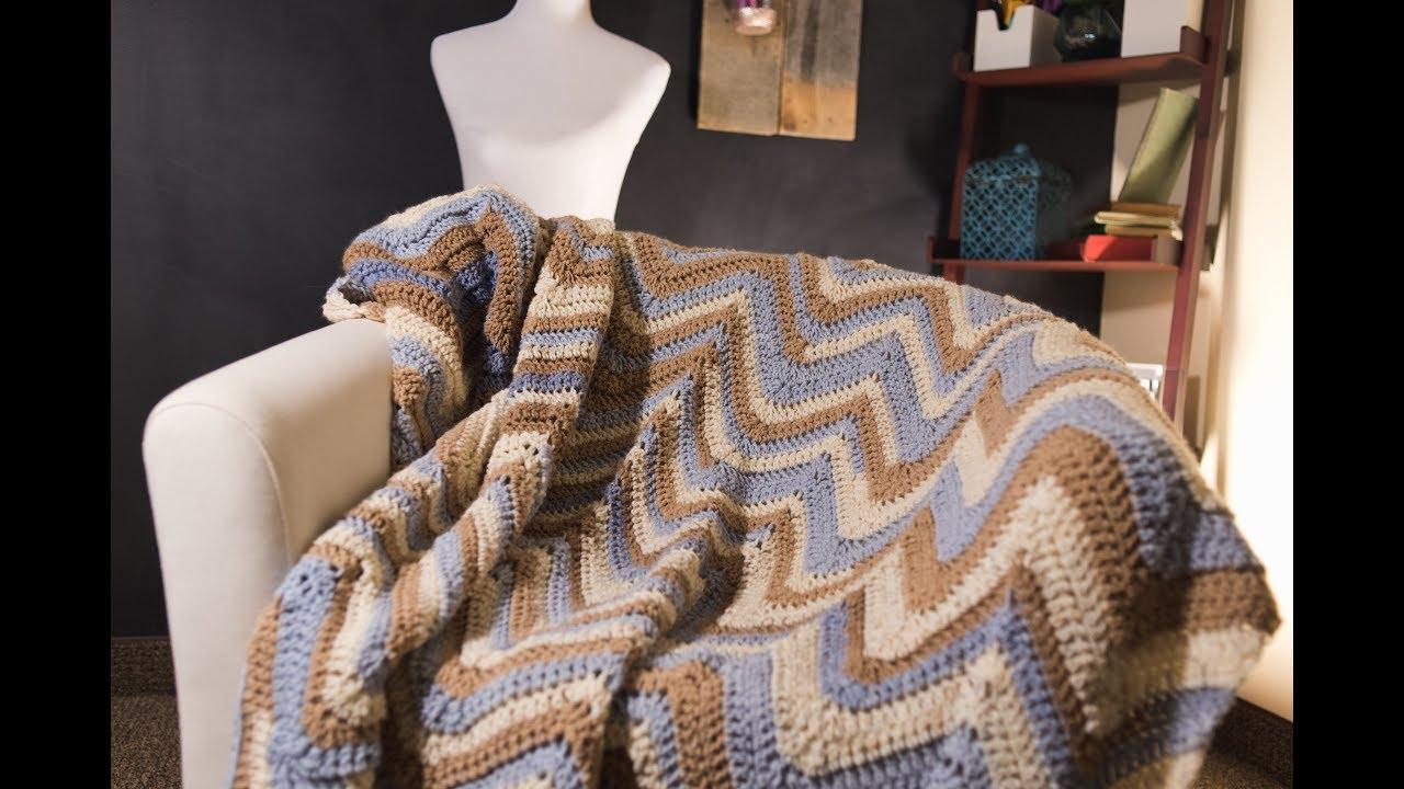 c579ca5529 Crochet Chevron Afghan Pattern Tutorial - YouTube