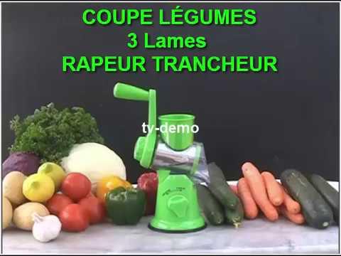 Coupe Legumes 3 Lames Rondelle Rape Julienne