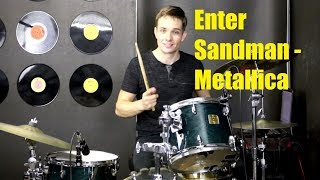 Enter Sandman Drum Tutorial - Metallica