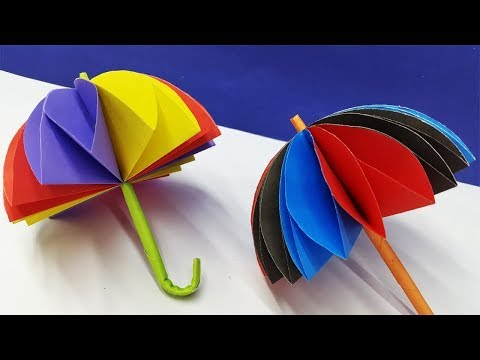 How To Make a Awesome Paper Umbrella # DIY Paper Craft # Umbrella Making Trick