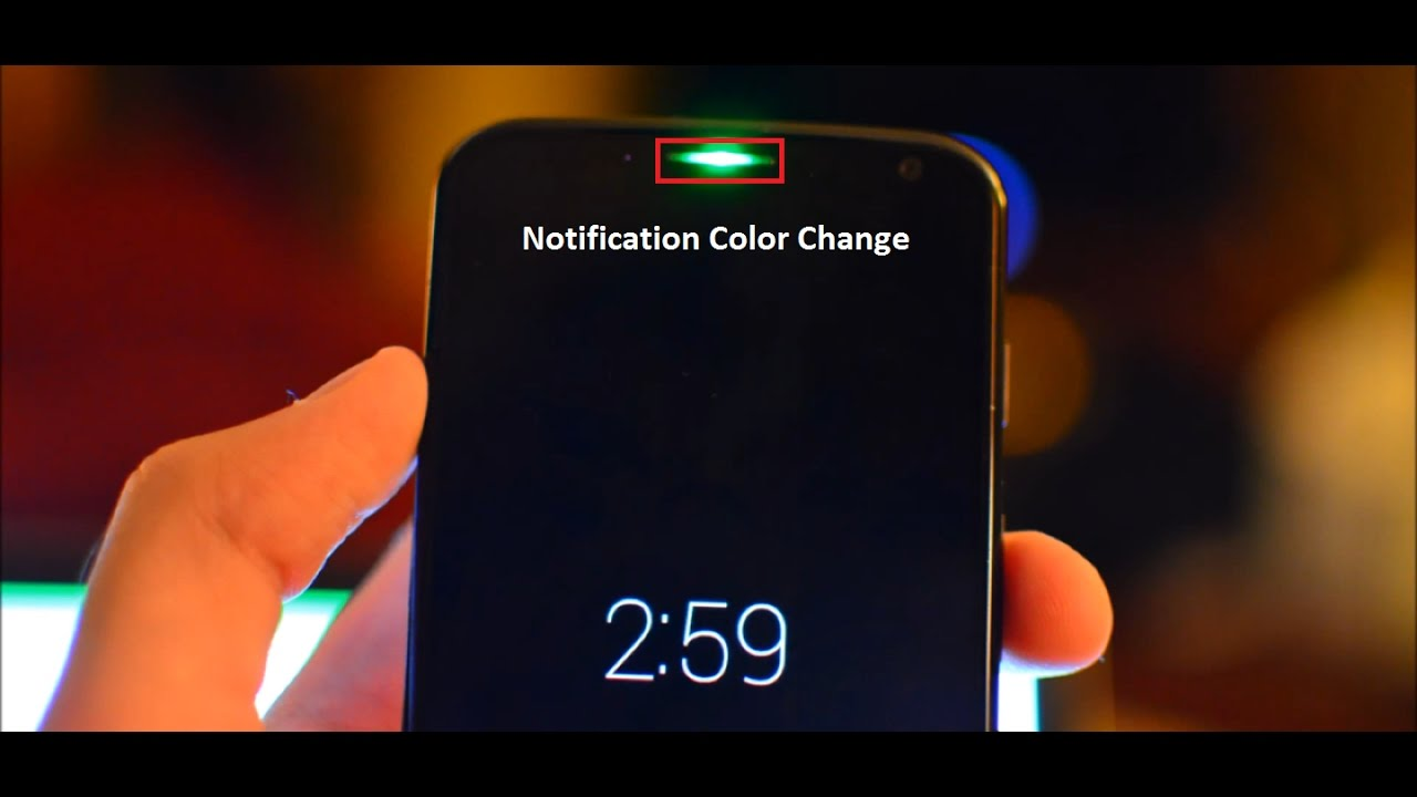 how to turn on android notification light