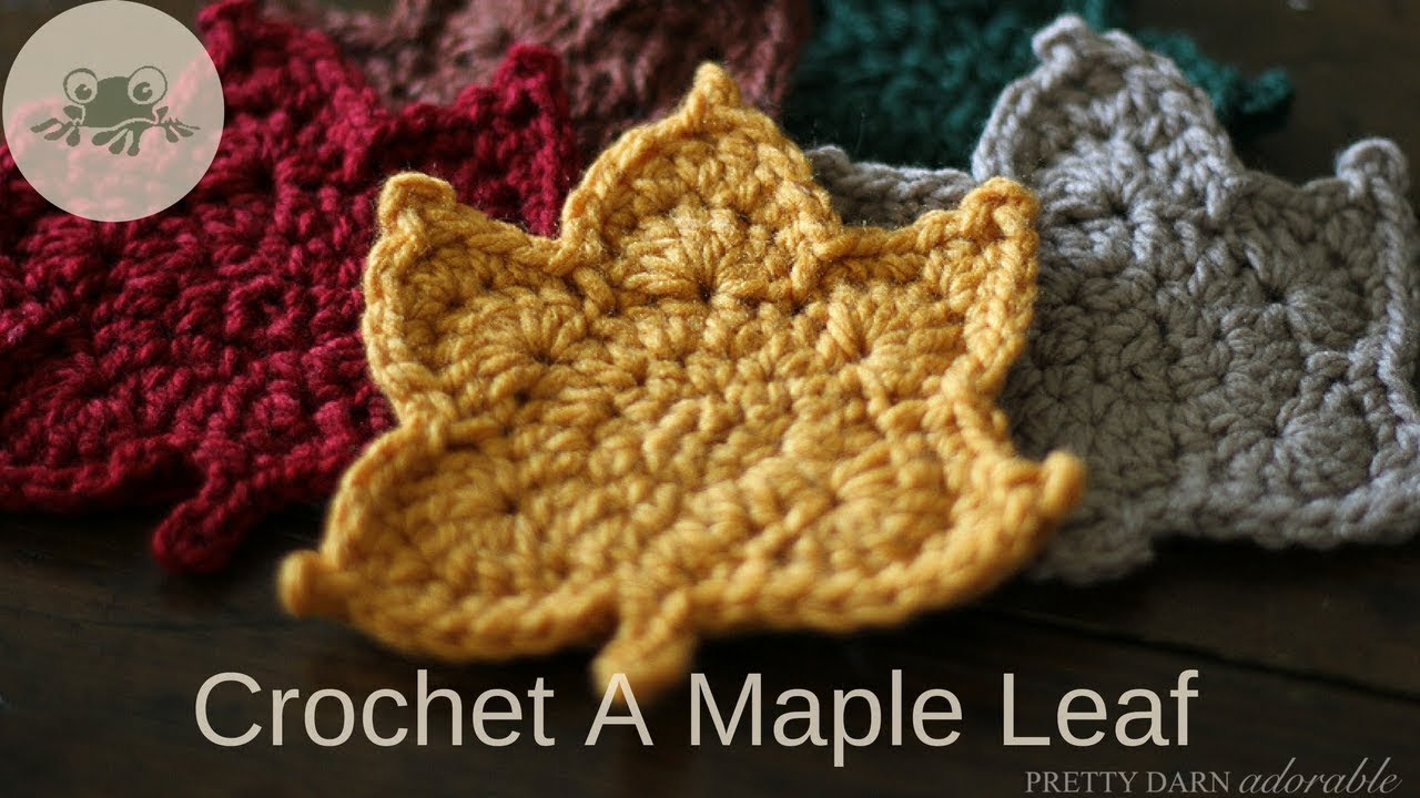 How to Crochet a Maple Leaf - YouTube