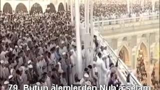Saffat Suresi Kabe İmamı Sudais Türkçe Altyazılı Mealli
