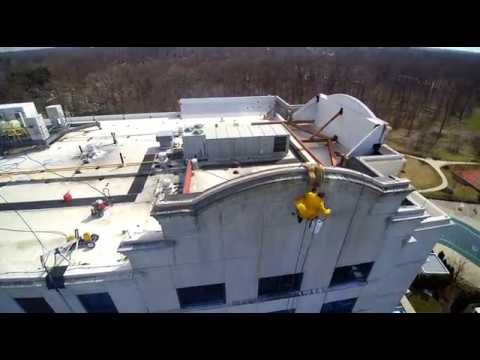 Powerwashing Cherry Hill Tower - Aerial Footage | Dragonfly Drone Services | Philadelphia, PA