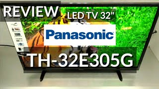 REVIEW LED TV 32 PANASONIC TH-32E305G indonesia HD
