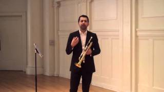 Arban's Étude n.12 ILMEA Trumpet Audition Advice Set III Axiom Brass