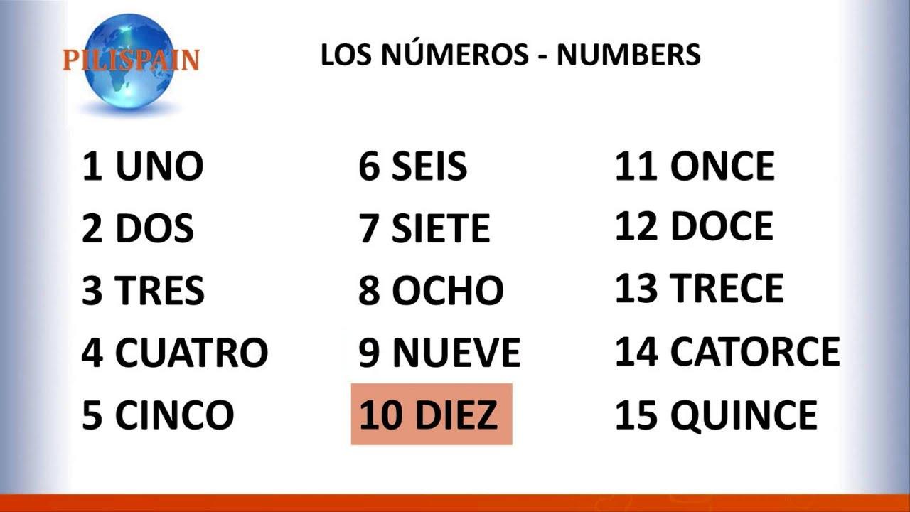 Learn Spanish with PILISPAIN. Numbers 0-30 - YouTube