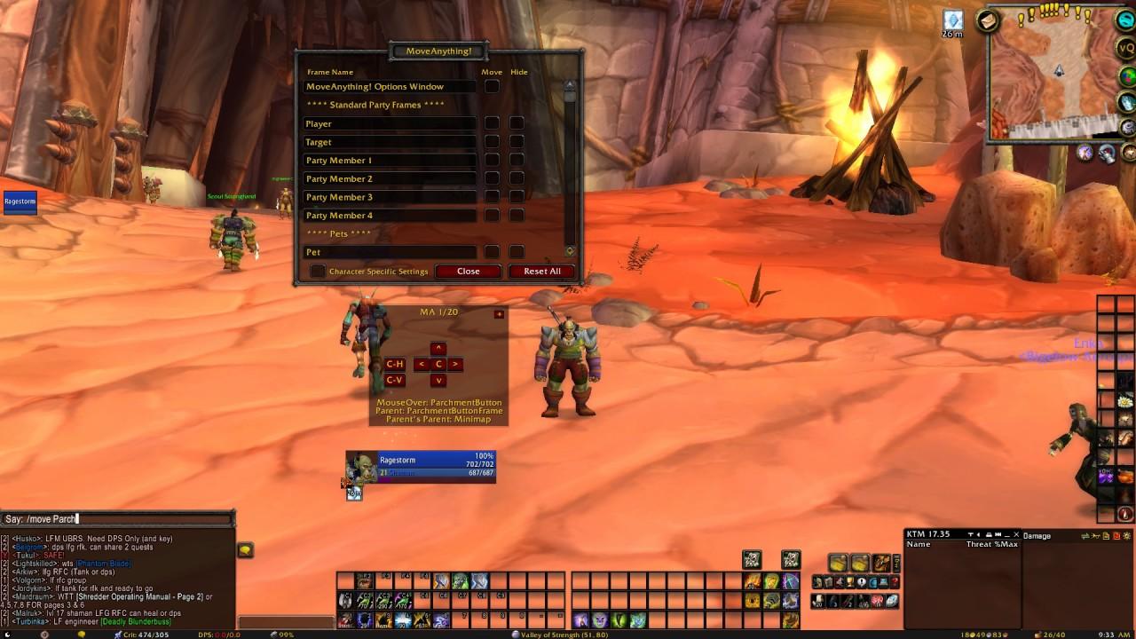 World Of Warcraft moveanything!