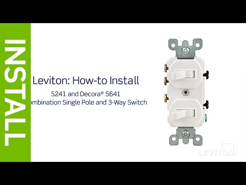 Leviton Presents: How to Install a Combination Device with a ... on on off wall switch diagram, 3 wire switch diagram, 3 pole switch diagram, light switch wiring diagram, three switch wiring diagram, easy 3 way switch diagram,