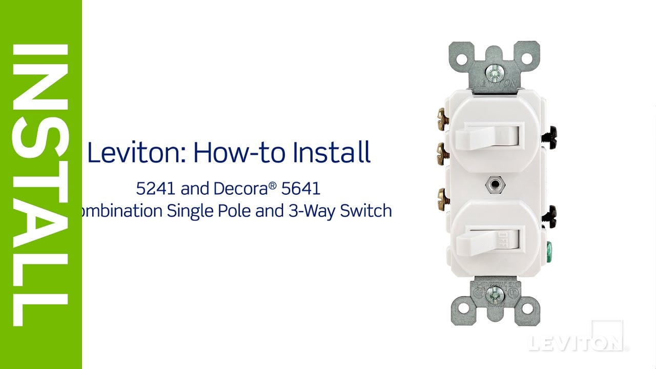 leviton presents: how to install a combination device with a single pole  and a three-way switch