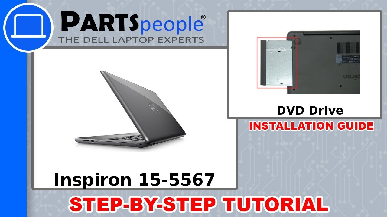 Dell Inspiron 15-5567 (P66F001) DVD Drive How-To Video Tutorial