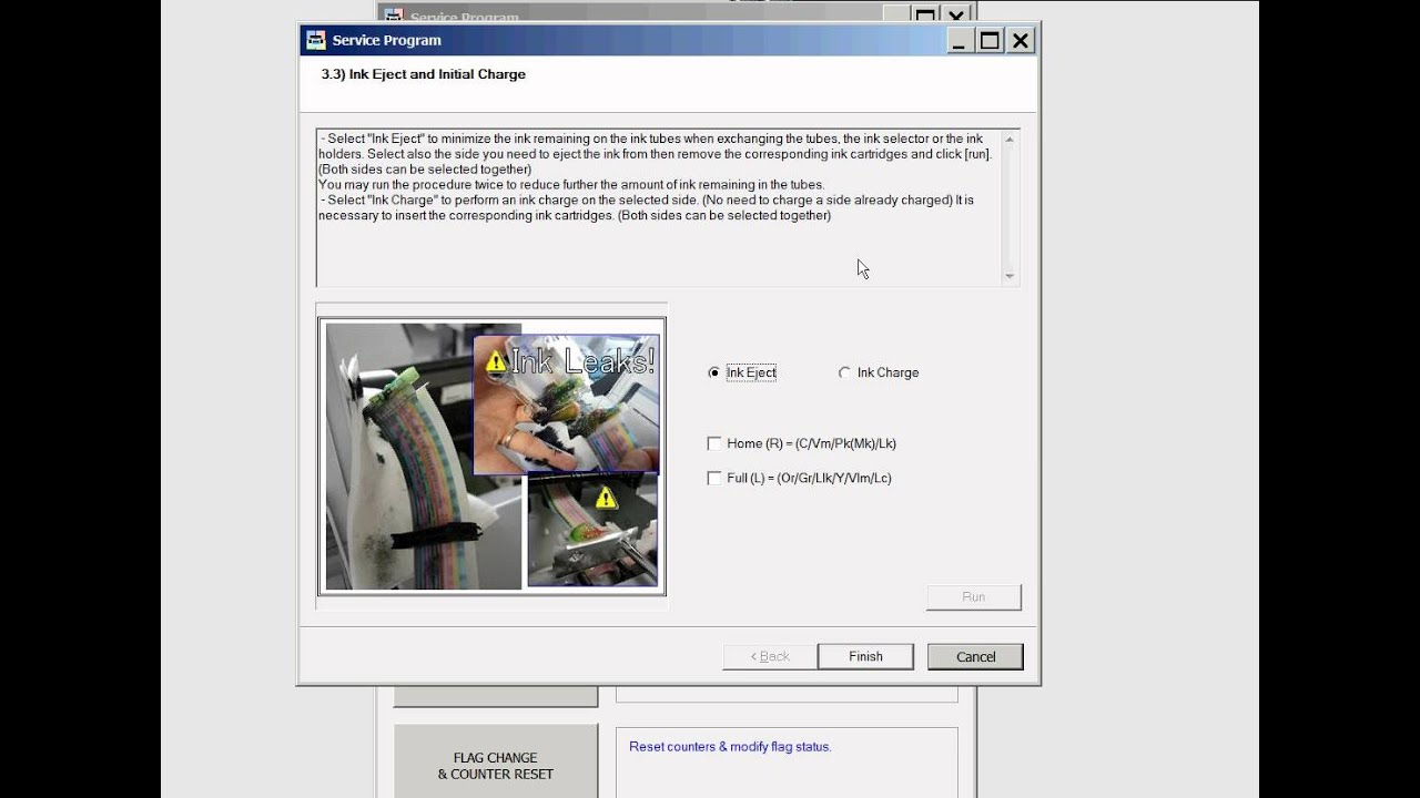 Epson Pro 4900 Adjustment Program for printhead unclogging
