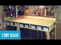Easy DIY $35 Wall-Mounted Workbench w/ Storage