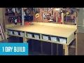 Easy DIY $35 Wall-Mounted Workbench w/ Storage