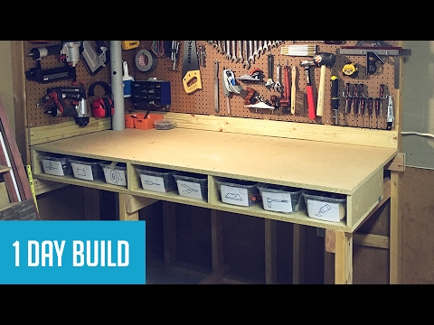 Superior Easy DIY $35 Wall Mounted Workbench W/ Storage