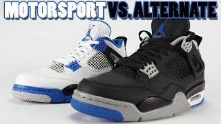 Motorsport vs Alternate Air Jordan 4 Comparison