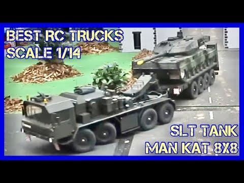 RC Scale Modell Trucks auf einem Diorama mit Mini Truck und LKW Waschstrasse