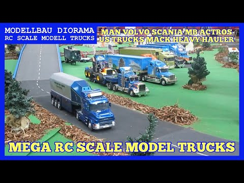 rc modell trucks scale modell truck parcour diorama. Black Bedroom Furniture Sets. Home Design Ideas