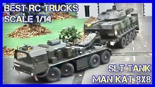 RC Scale Modell Trucks auf einem Diorama mit Mini Truck und Waschstrasse