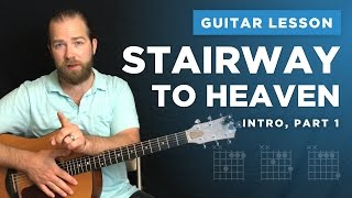 "Learn the intro to ""Stairway to Heaven"" (guitar lesson w/ tabs)"