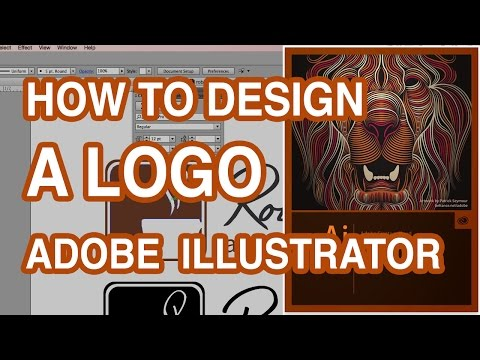 How To Design A Logo - Make Your Own Logo - Illustrator Tutorial