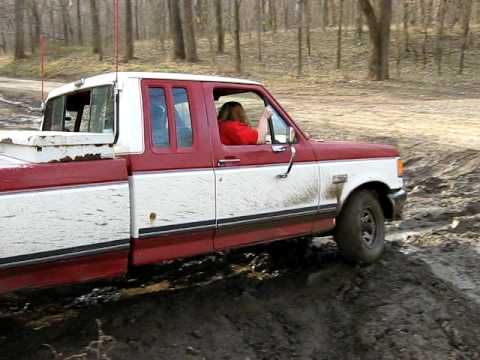 1989 ford f150 4x4 muddin - youtube