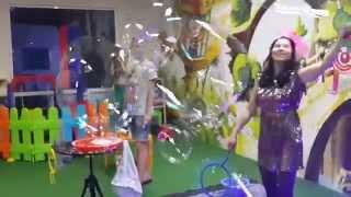 Шоу мыльных пузырей на День Рожденье у Альбины
