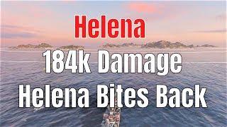 Helena T7 US Cruiser | Bites back, 184k Damage | World of Warships