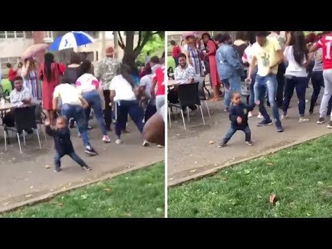 Don Action Jackson - Adorable Toddler's Got All The Moves At College Party