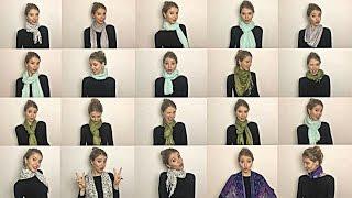 20 maneiras diferentes de usar um cachecol/echarpe !