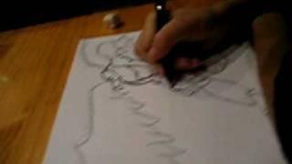 Como dibujar a Helios (Gormiti) videotutorial 4.