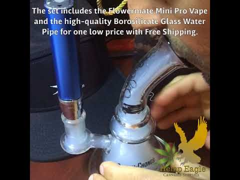 Dry Herb Vape and Water Pipe Combo Set