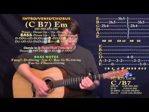 Rich $ex (Future) Guitar Lesson Chord Chart - Capo 3rd