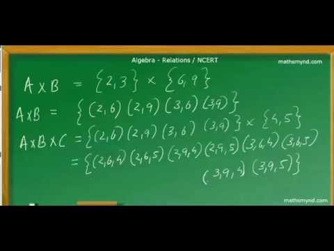 Relations Cartesian Product Of Three Sets NCERT Std XI YouTube