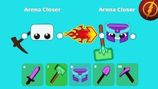 Starve.io - ROAD TO THE BEST FULL AMETHYST PLAYER WITH SUPER HAMMER (Starve.io tips & tactics)