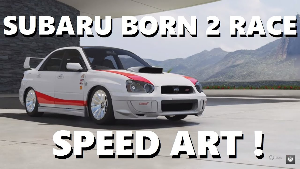 Forza Motorsport Born Race S Subaru Speed Art Youtube