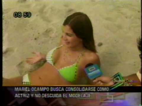 Mariel Ocampo en la Playa - Oh Chicas