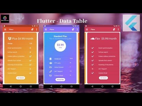Flutter Tutorial - Flutter DataTable - YouTube