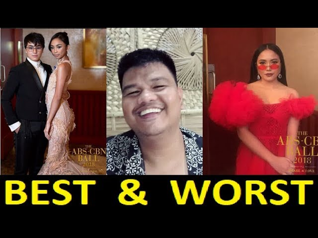 ABS-CBN BALL 2018 BEST AND WORST DRESSED CELEBRITIES