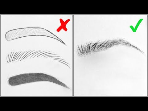 EASY TIPS For Drawing Realistic Eyebrows – Basic Mistakes And Step By Step Tutorial