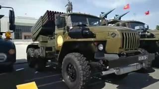 25 лет Кыргызской армии, выставка военной техники на площади Ала-Тоо