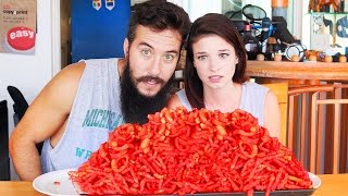 Hot Cheetos & Takis Challenge vs. My Girlfriend